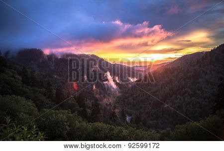 Peaceful Smoky Mountain Sunset