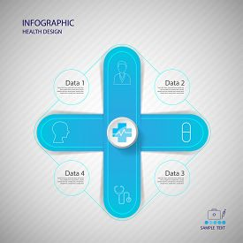 Vector Plus Sign Infographic. Medical Healthcare Concept.