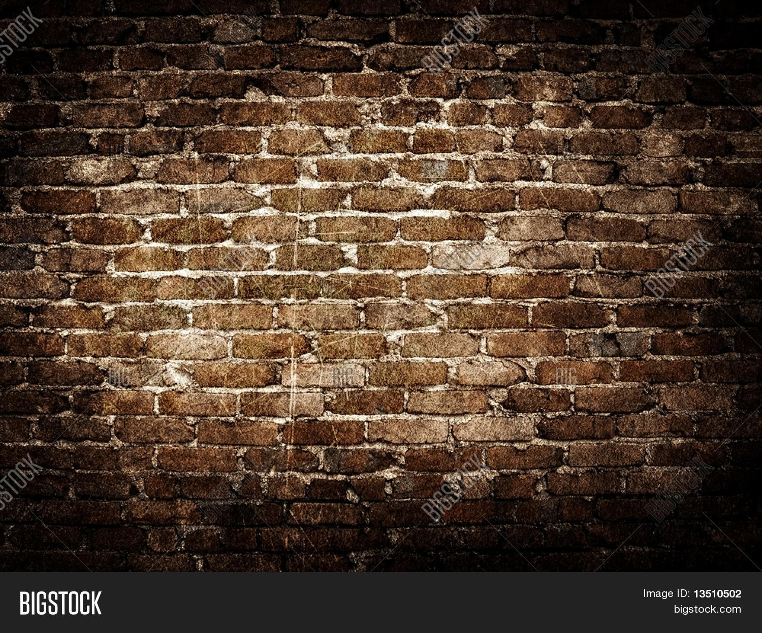 Grunge brick wall background image photo bigstock for Big wallpaper for wall