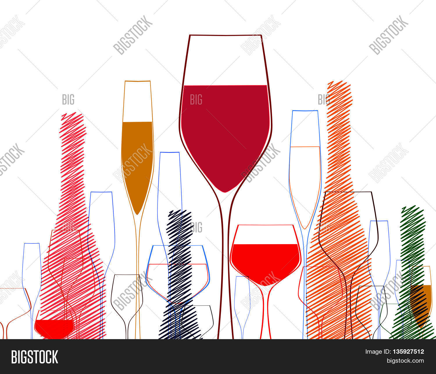 c9557eb8d6 Cocktail Party Vector Vector & Photo (Free Trial) | Bigstock