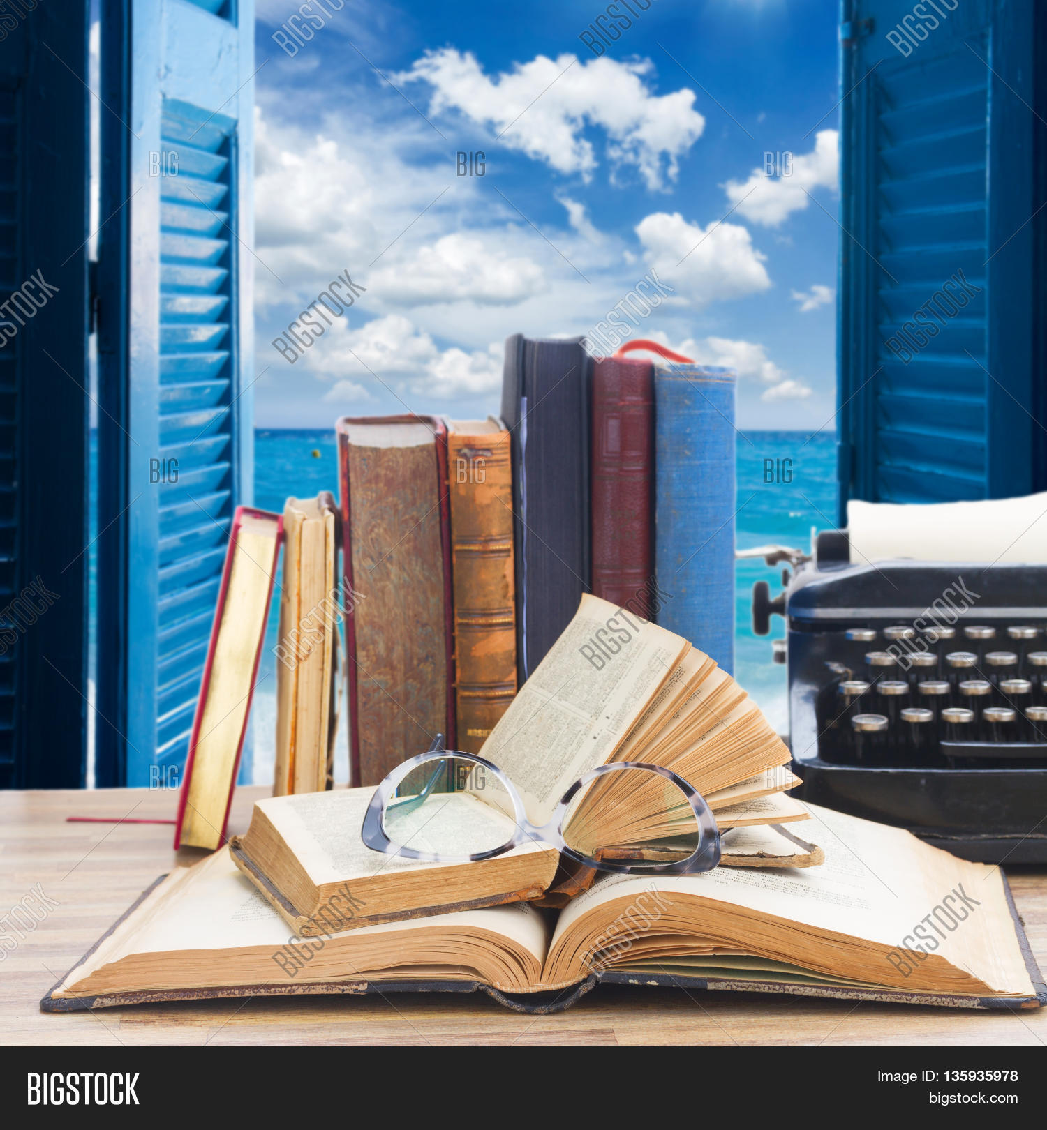 Old Books, Glasses Image & Photo (Free Trial) | Bigstock