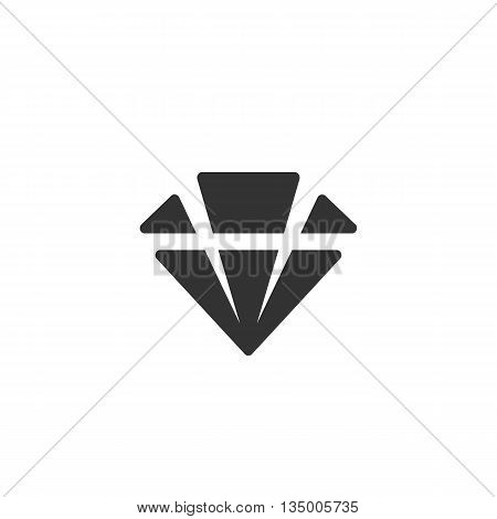 Diamond icon on white background. Diamond vector logo. Flat design style. Modern vector pictogram for web graphics. - stock vector