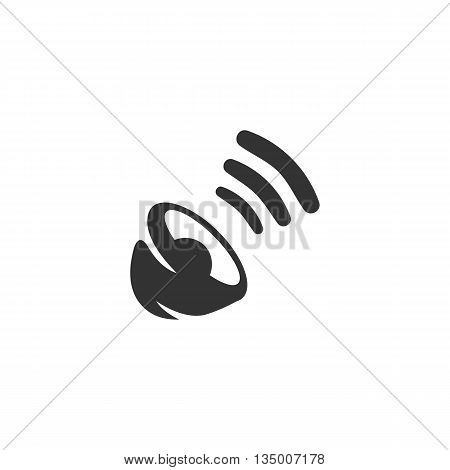 Sound icon on white background. Sound vector logo. Flat design style. Modern vector pictogram for web graphics. - stock vector