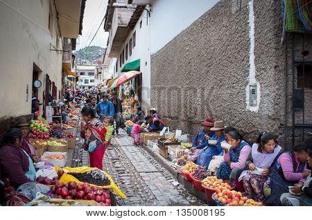 Market In Cusco, Peru