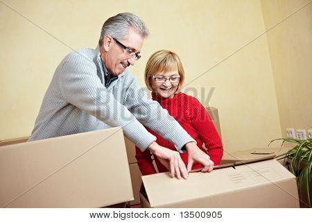 Senior Couple Preparing For Moving
