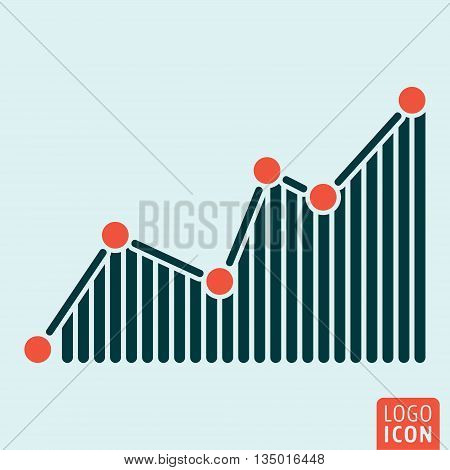 Graph icon isolated. Business diagram symbol. Vector illustration
