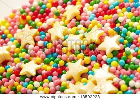 sweet sugar spreading pastry decoration poster