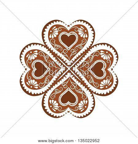 Heart shape Winter Sweets background. Vector illustration