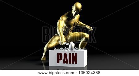 Eliminating Stopping or Reducing Pain as a Concept 3D Illustration