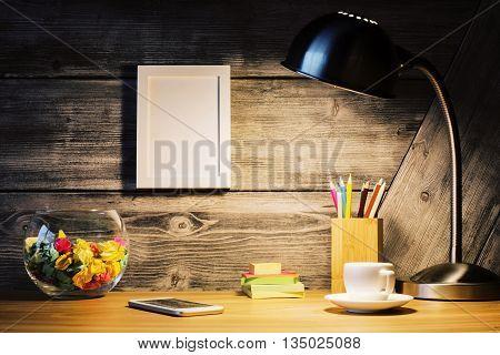 Hipster Desktop With Frame