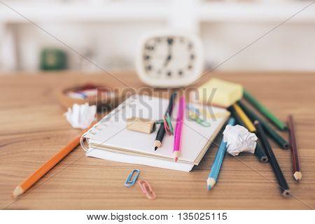 Messy Office Desktop