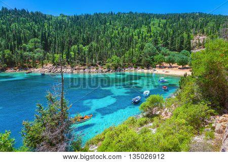 Beach in Kefalonia island, Greece