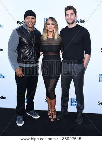 LOS ANGELES - JUN 14:  LL Cool J, Chrissy Teigen & John Krasinski arrives to the