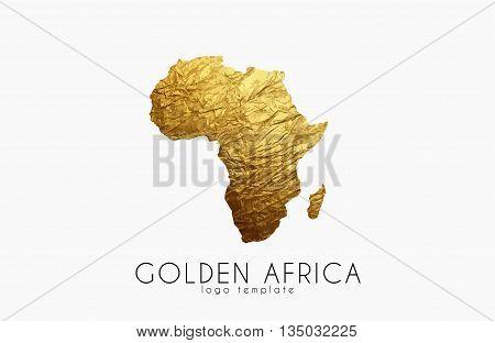 Africa. Golden Africa logo. Creative Africa logo design