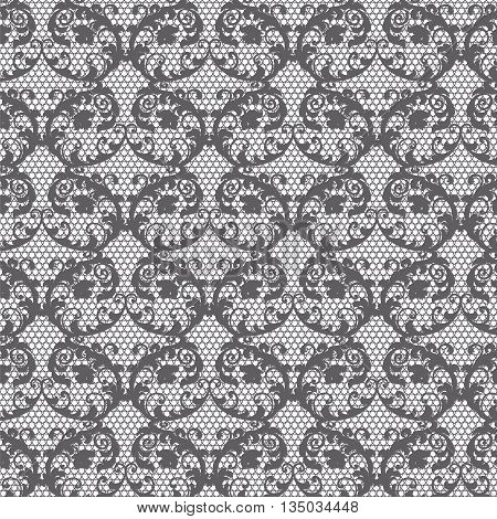 Lace pattern background with ornaments. Vector illustration