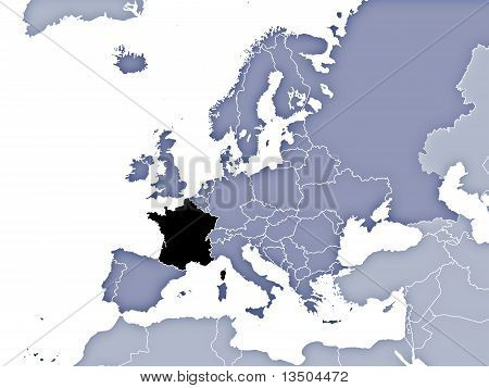 France Location On Europe's Map