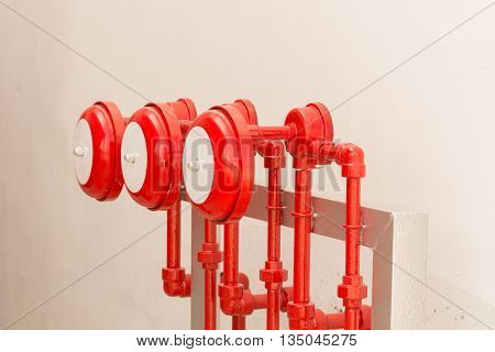Fire sprinkler alarm for industries fire protection system. Fire proof system.