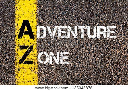 Concept Image Of Business Acronym Az Adventure Zone
