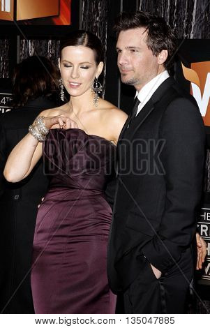 Len Wiseman and Kate Beckinsale at the VH1's 14th Annual Critics' Choice Awards held at the Santa Monica Civic Auditorium in Santa Monica, USA on January 8, 2009.