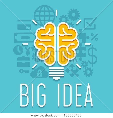 Rich idea innovation light bulb infographic concept. Success idea for innovation business. Symbol idea illustration vector