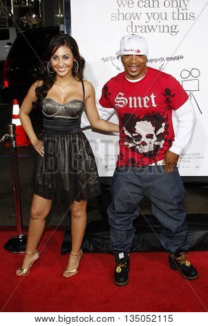 Shane Sparks and Francia Rasia at the Los Angeles premiere of 'Zack and Miri Make a Porno' held at the Grauman's Chinese Theater in Hollywood, USA on October 20, 2008.