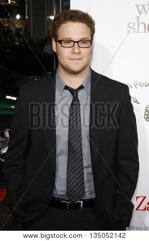 Seth Rogen at the Los Angeles premiere of 'Zack and Miri Make a Porno' held at the Grauman's Chinese Theater in Hollywood, USA on October 20, 2008.