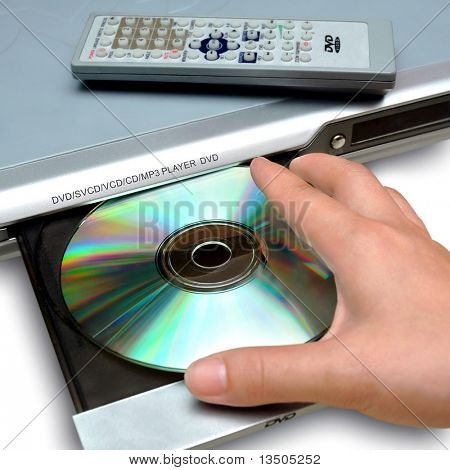 Einlegen der Disc, DVD-player
