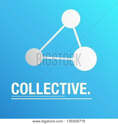 Collective blue background to talk about how people share