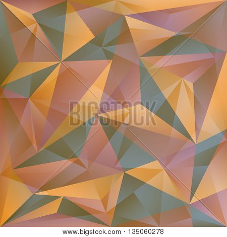 Seamless mosaic pattern combined with mixed triangles
