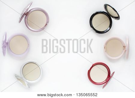 Top View Makeup Compact Powder