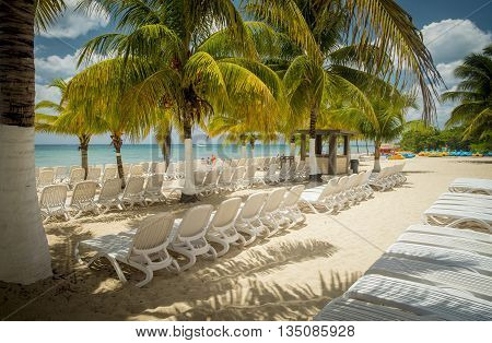 Beautiful beach on Cozumel Island in Mexico