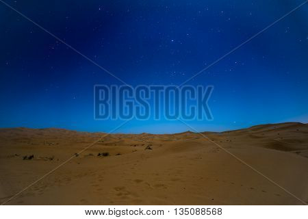 Stars At Night Over The Dunes, Morocco