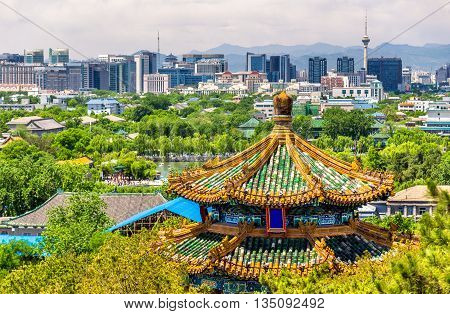City view of Beijing from Jingshan park - China