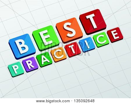 best practice text in flat design, business professional service concept words, vector