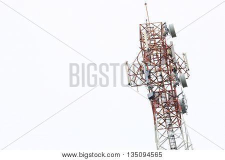 Satellite pillar base station.Satellite dish,Signal telecommunication base station