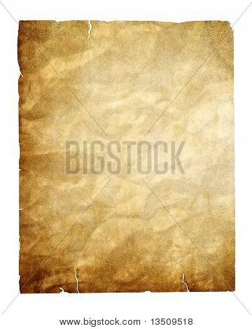 vintage paper isolated with clipping path
