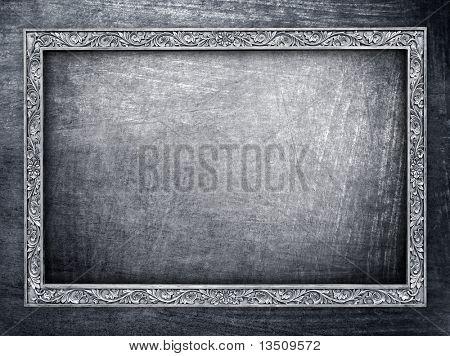 metal frame background