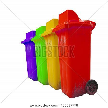 bin, types of rubbish, separated by its color, Rubbish Bin (Green), recyclable waste (Yellow) general waste (Blue), hazardous waste (Red)