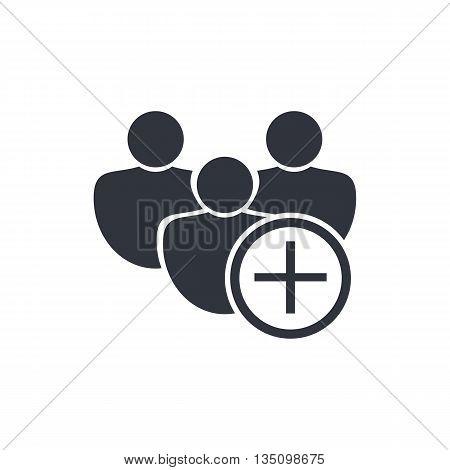 User Add Icon In Vector Format. Premium Quality User Add Symbol. Web Graphic User Add Sign On White