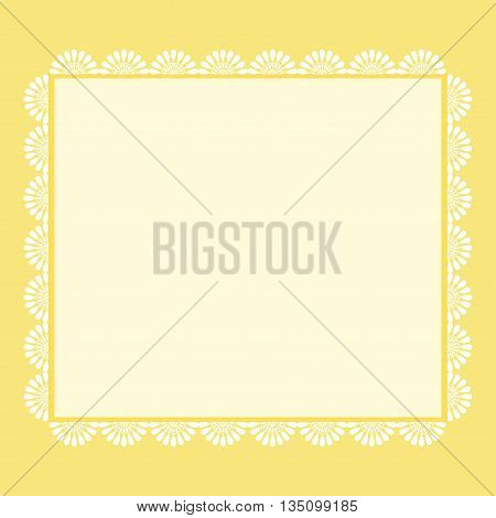 Vintage romantic greeting background in yellow tones