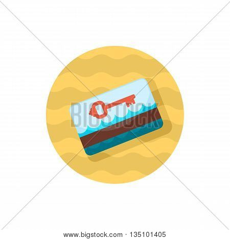 Electronic keycard vector icon. Key card. Travel. Summer. Summertime. Holiday. Vacation, eps 10