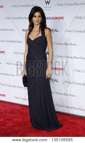 Penelope Cruz at the Los Angeles premiere of 'Vicky Cristina Barcelona' held at the Mann Village Theater in Westwood, USA on August 8, 2008.