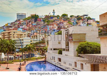 View Of Cerro Santa Ana In Guayaquil Ecuador