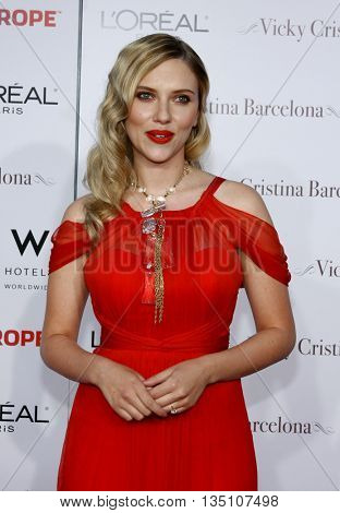 Scarlett Johansson at the Los Angeles premiere of 'Vicky Cristina Barcelona' held at the Mann Village Theater in Westwood, USA on August 8, 2008.