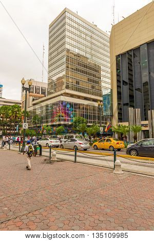 Buildings And Traffic In Guayaquil, Ecuador
