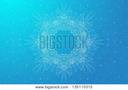 Geometric abstract background molecule and communication. Vector illustration.