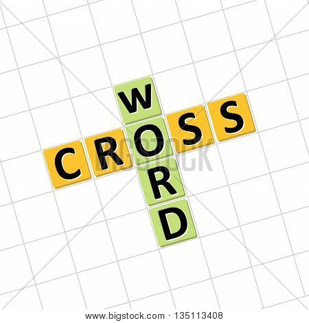 Crossword icon. Vector illustration to solve crossword puzzles.