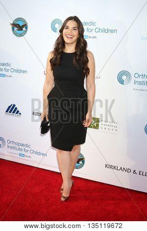 LOS ANGELES - JUN 18: America Ferrera at the Stand For Kids Gala at the Twentieth Century Fox Studios Lot on  ,  June 18, 2016 in Century City, CA