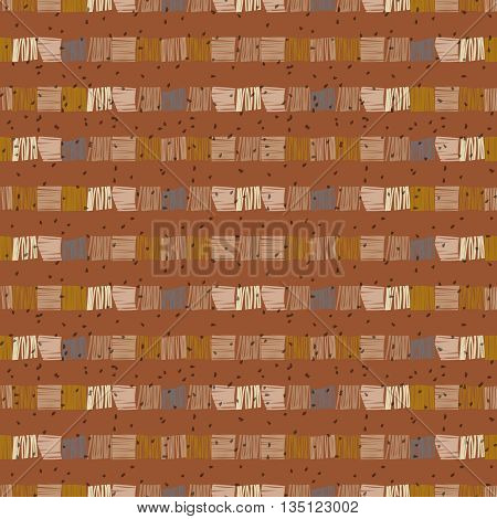 African ethnic seamless pattern. Abstract pattern. Hand drawn striped  vector background. Geometric vector seamless