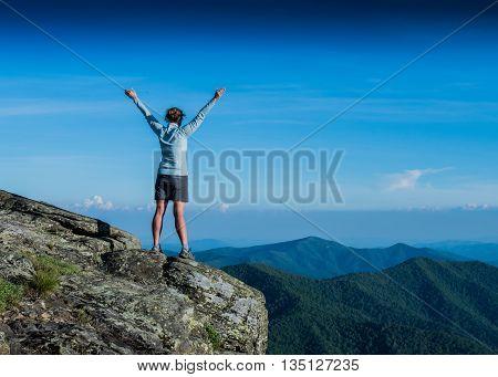 Power Posing on a Ridge Top in the Blue Ridge Mountains